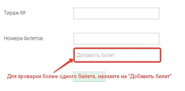 "Указываем номера тиража и билета ""Русского лото"" на www.stoloto.ru"